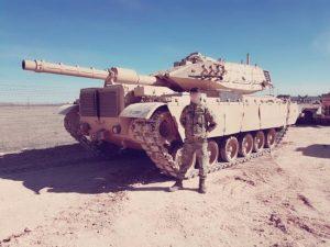 טנק סברה בסכימה מדברית