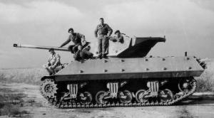 """משחית טנקים אם-10 בצה""""ל עם תותח 75 מ""""מ צרפתי"""