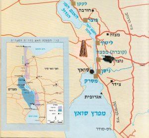 """מפה מתוך הספר """"בני קשת"""" של פרופ' יואב גלבר וחני זיו. עיבוד מחשב, עפ""""י תיאור של דני קריאף: יוסי קופמן"""