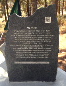 """סיפורה של חטיבת 274 (691) באנדרטה - חטיבת טנקי השלל"""" (""""הטירנים"""") הראשונה בצה""""ל"""
