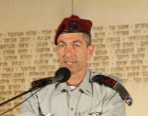 האלוף רונינומה, מפקד פיקוד המרכז, נושא דבריו