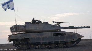 טנק מרכבה 4 חוזר לבסיס לאחר אימון באש חיה