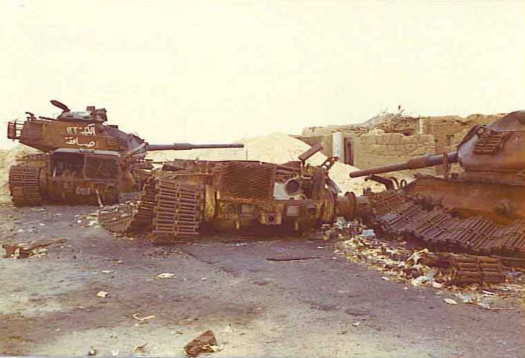 טנקים ישראלים מושמדים במלחמת יום הכיפורים