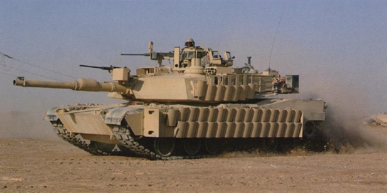 טנק אברמס עם מיגון טוסק 2