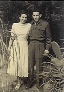 חגית וישראל טל בחתונתם (1949)
