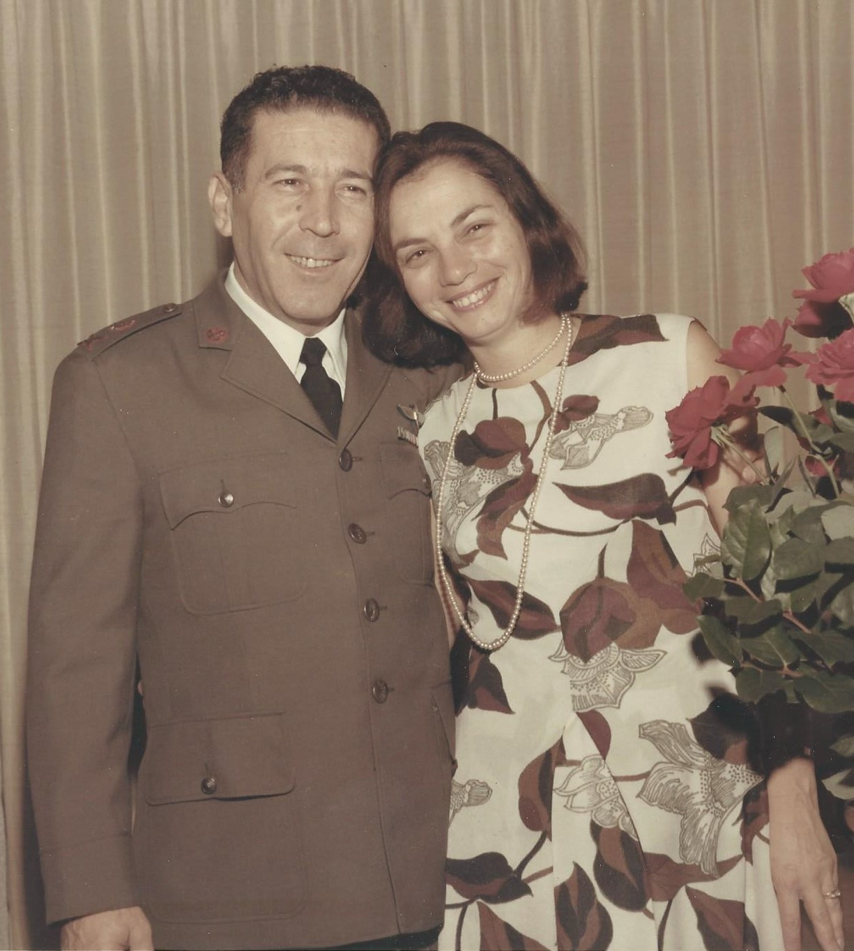 חגית וטליק באירוע ב-1970