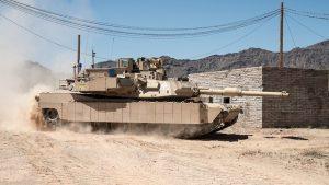 """טנק אברהמס עם מערכת """"מעיל רוח"""". צילום-רפאל"""