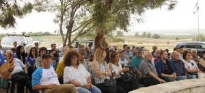 חלק מהקהל בטקס הזיכרון