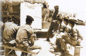 תדרוך חיילי גדוד 82 בארועי קרב על המים