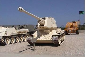 תותח נג טנקים מתנייע T100