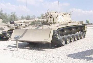 טנק מגח 6 M60 עם דחפור M9