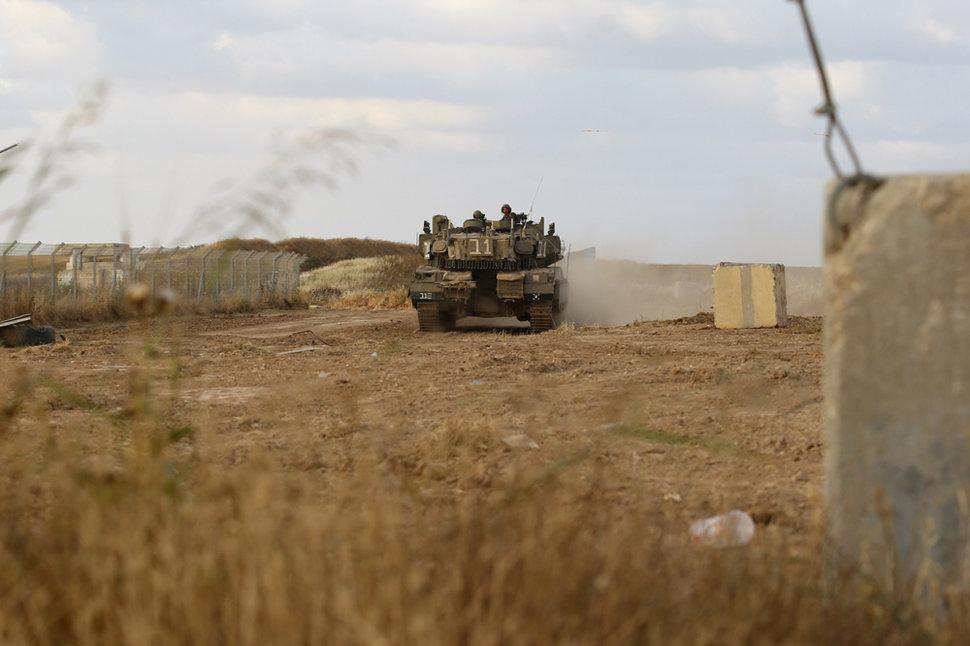 מרכבה 4מ בסיור בגבול הרצועה