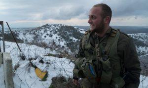לוחמי גדוד 9 בחורף מושלג ברמת הגולן