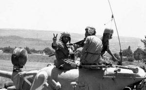 טנקים ישראלים בקוניטרה 1967