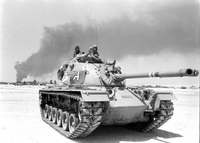 טנק פטון במלחמת ששת הימים בסיני