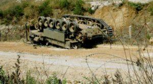 """""""עניין של זמן עד שהטנק הבא יחטוף"""". צילום: חיים אזולאי חיים אזולאי"""