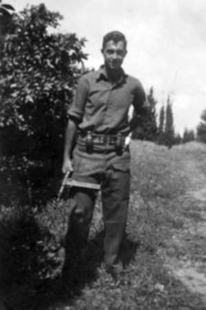 """אריק שרון כמ""""מ בחטיבת אלכסנדרוני במלחמת העצמאות, צילום: ארכיון צה""""ל"""