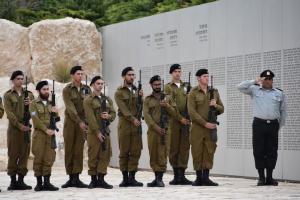 משמר כבוד בטקס יום הזיכרון