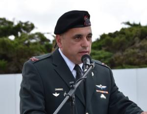 """קצין השריון הראשי תא""""ל גיא חסון נושא דבריו"""