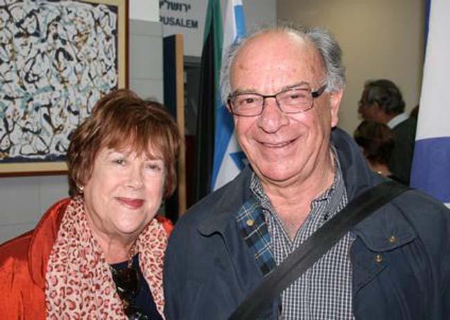 """סינטיה ודיוויד גלוקמן, סבתא וסבא של חן דייויס מצוות אפשטיין, """"שעשו עלייה"""" לארץ מדרום אפריקה לפני כחמישה חודשים"""