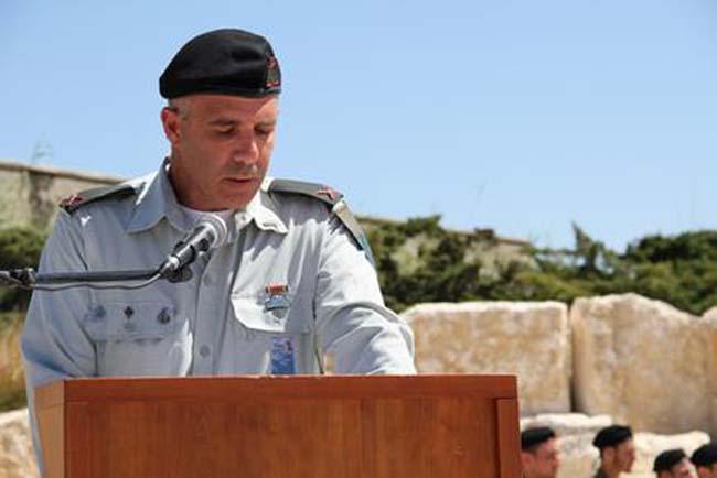 """קצין השריון הראשי תא""""ל עפר צפריר נושא דבריו"""