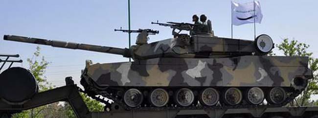 הטנקZolfaghar. דמיון לטנק אברמס האמריקאי