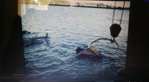 צוללני ההנדסה הימית במהלך החילוץ המסובך