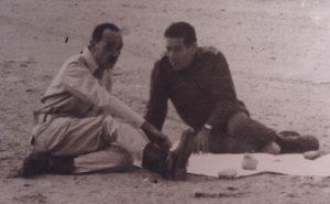 אלוף ישראל טל עם הגנראל המיצרי גמאסי לאחר מלחמת יום הכיפורים