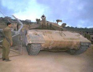 """הטנק האחרון שיצא מלבנון, מרכבה 2ד' של חטיבה 7 . צילום: בן אלפי, לע""""ם"""