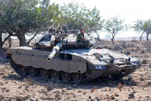 """טנק מרכבה 3ד צ-836188, היה טנק הקודם של המח""""ט. הטנק שבצילום שימש את מח""""ט 188 אל""""ם ניר בן-דוד """"בנדה"""". צילום: מיכאל מס"""