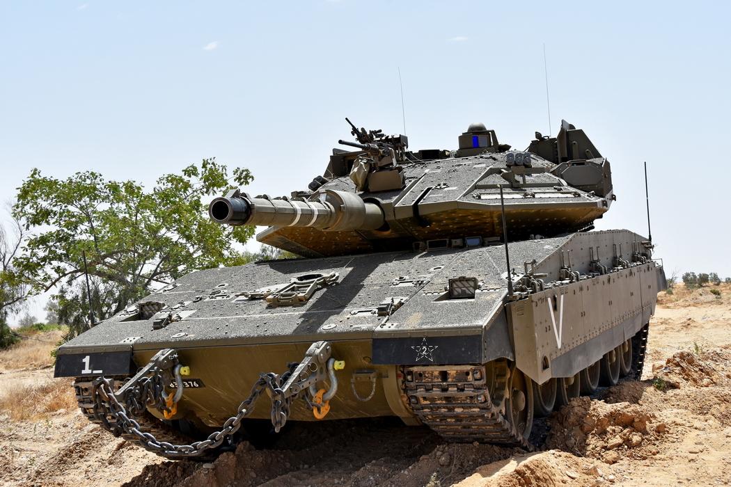טנק מרכבה 4מ של גדוד 74 מחטיבה 188