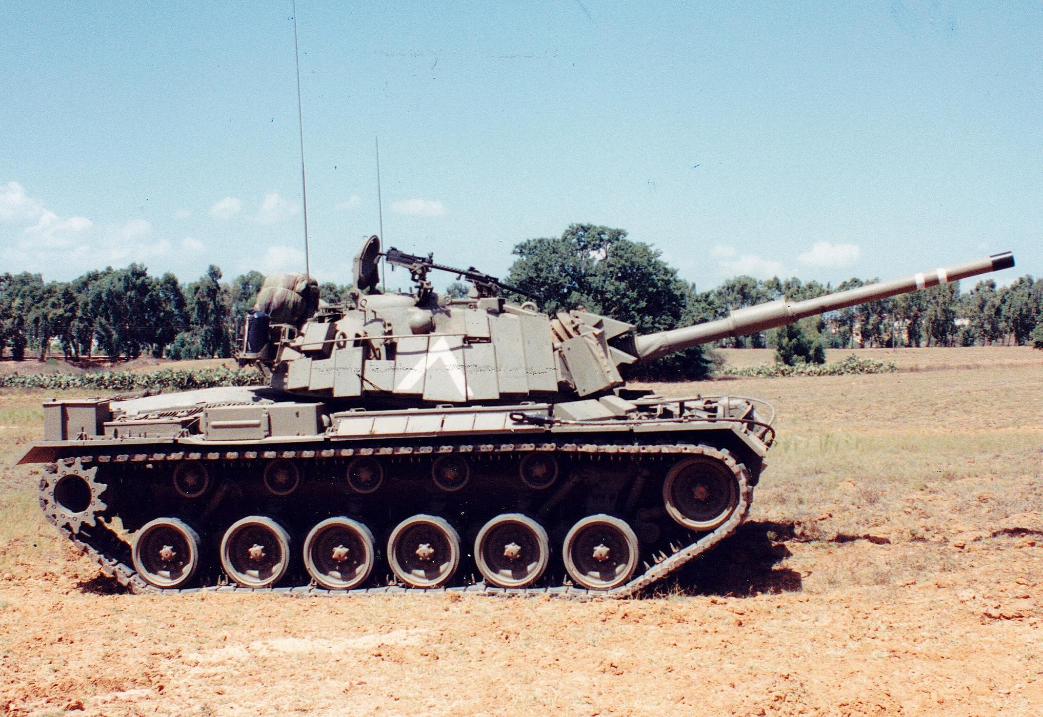 טנק מגיח 3 עם מיגון בלטן, מדוכות עשן ושיפורים נוספים. צילום: איציק פורמברג