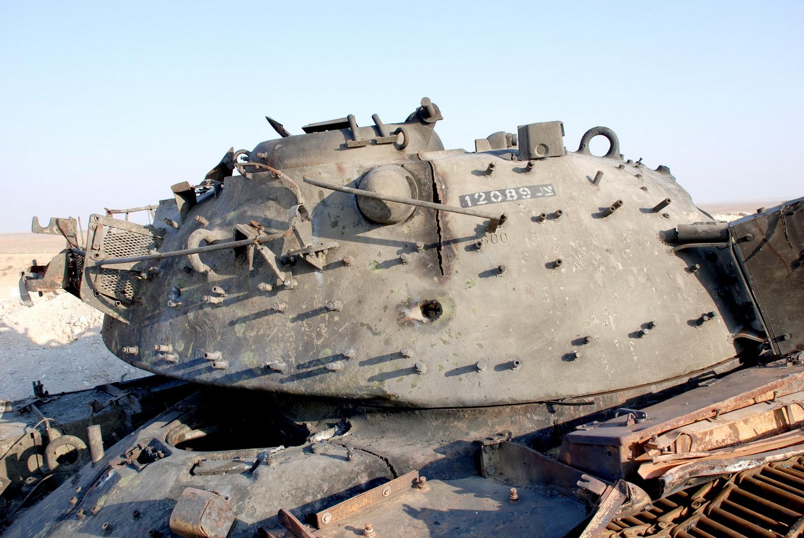 טנק מטרה לאימון - מגח 3 - בליסטיקה סופית. צילום: מיכאל מס
