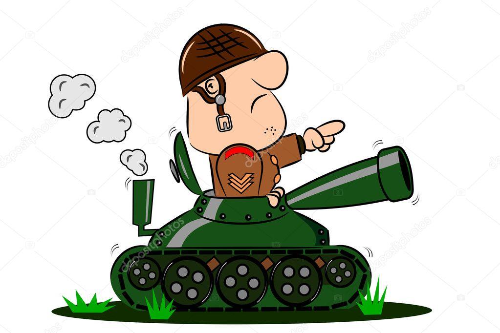 טנק מצחיק - קריקטורה